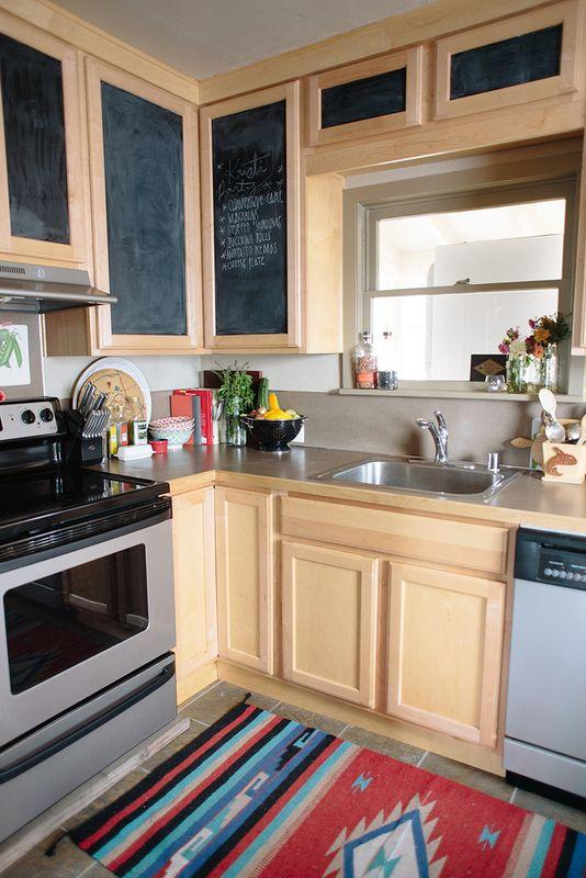 Ideas para forrar los armarios de la cocina con vinilo