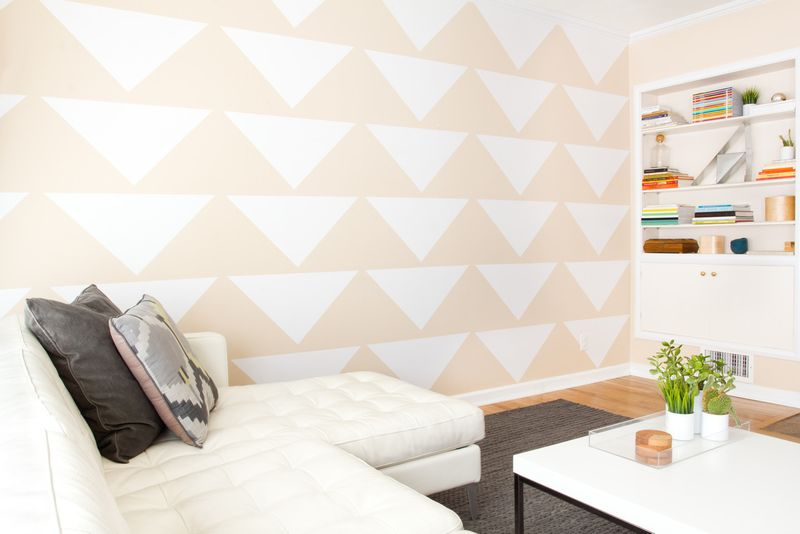 triángulos para decorar la pared con vinilo