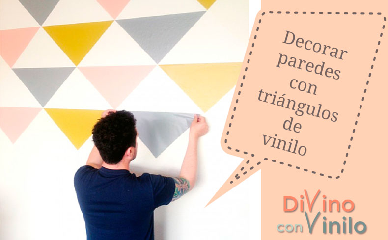 7 ideas para decorar la pared con vinilo adhesivo for Laminas de vinilo para paredes
