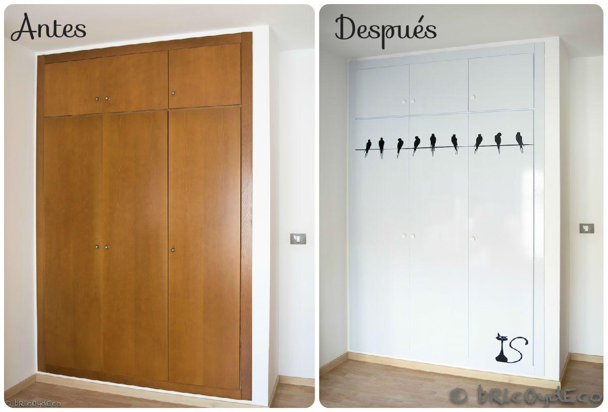 5 ideas para forrar con vinilo las puertas de tus armarios - Puertas para armarios ikea ...