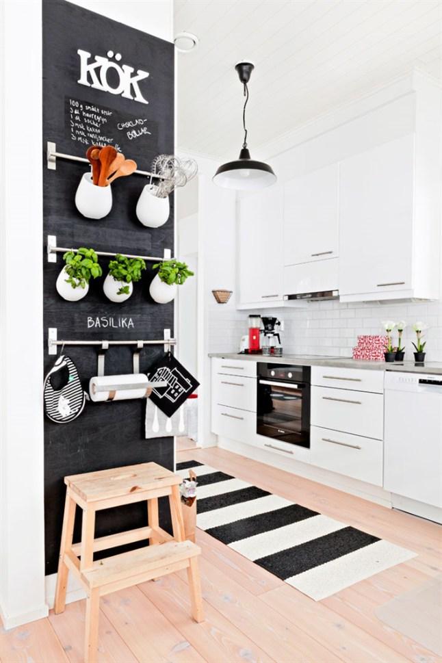 Decorar con vinilo pizarra 15 ideas que te inspirar n - Cocinas con vinilo ...