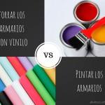 ¿Forrar el armario con vinilo o pintarlo? Ventajas e inconvenientes