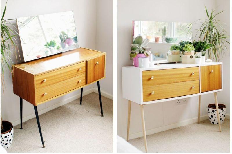 mueble de melamina renovado con vinilo
