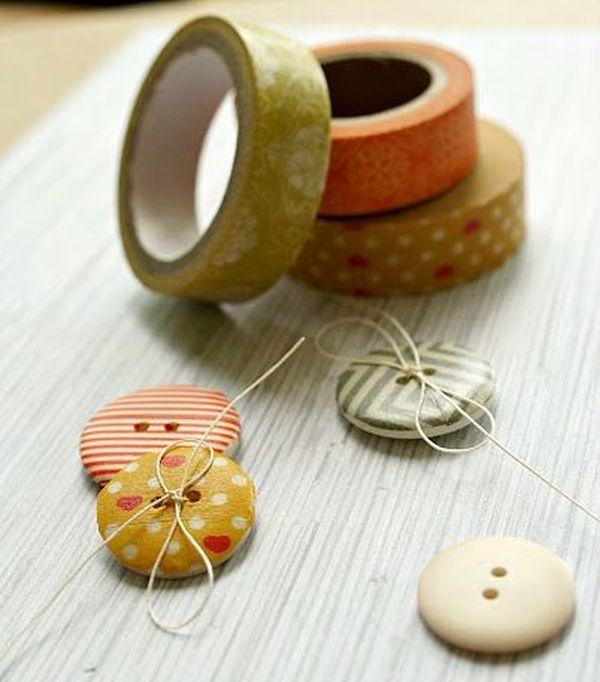 reciclar con washi tape objetos