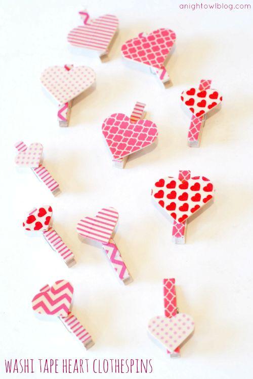 reciclar con washi tape pinzas para la ropa