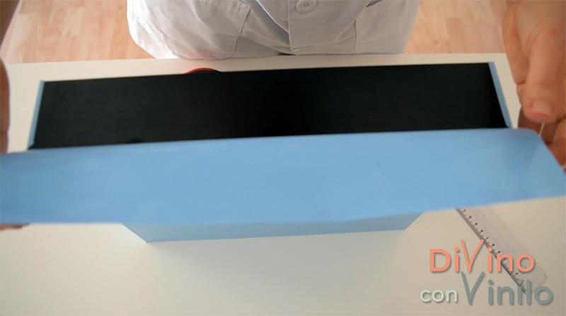 forrar los laterales con vinilo adhesivo