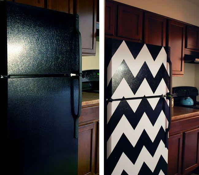 Ideas para renovar el frigor fico con vinilo adhesivo for Vinilos adhesivos para frigorificos