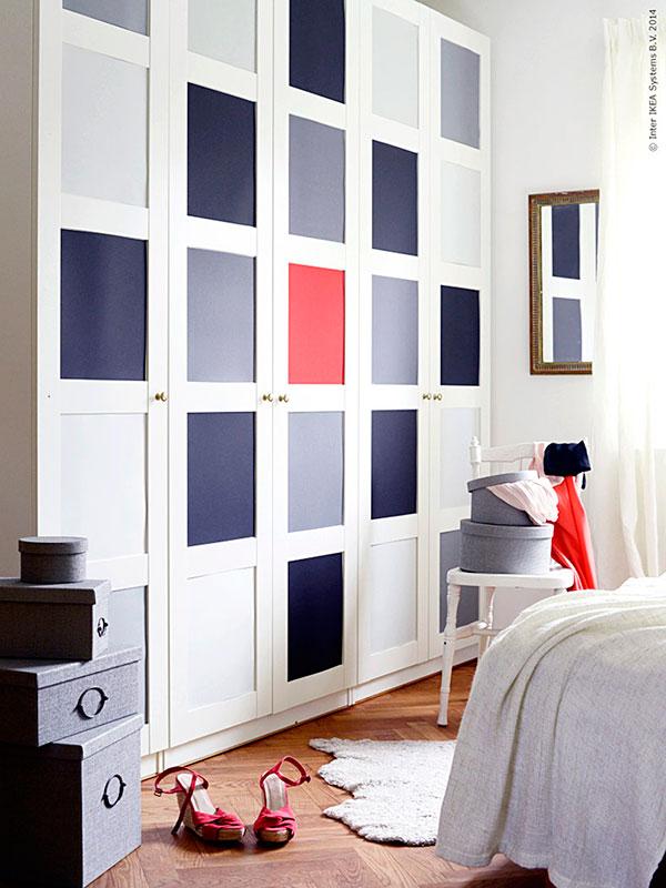 5 ideas para forrar con vinilo las puertas de tus armarios for Papel para forrar armarios