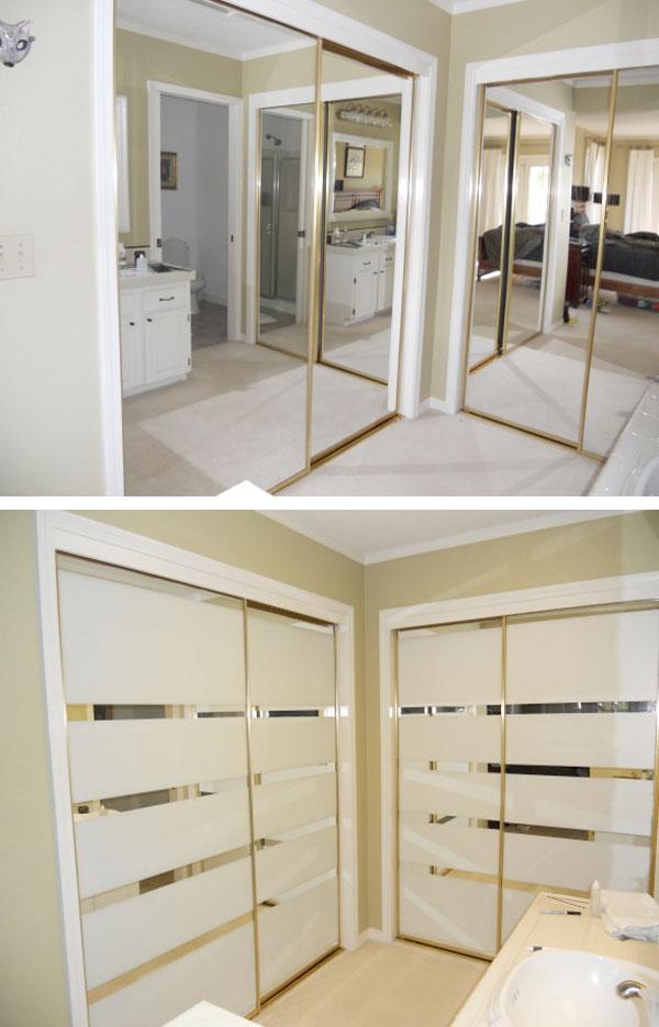 5 ideas para forrar con vinilo las puertas de tus armarios - Puertas para armarios ...