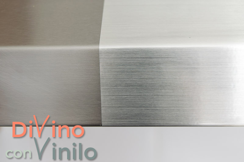 vinilo efecto acero inoxidable vs acero inoxidable