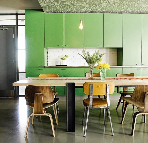 Renovar la cocina con vinilo: Greenery, el color del 2017 de Pantone