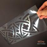 Cómo hacer plantillas de stencil con Silhouette Portrait y acetato