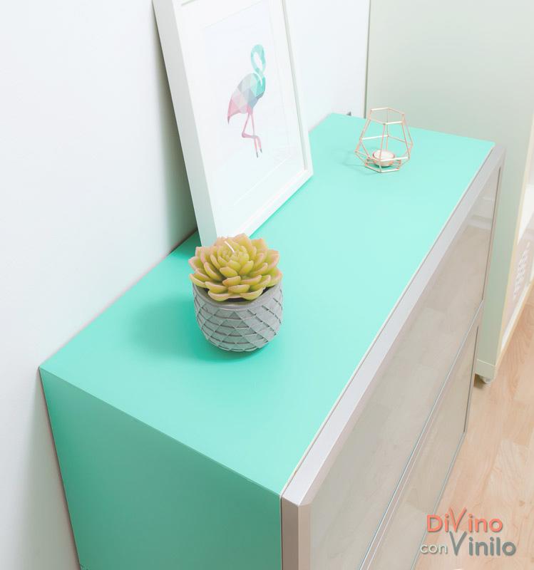 Transformaci n de un mueble de melamina forrado con vinilo - Vinilo para mueble ...