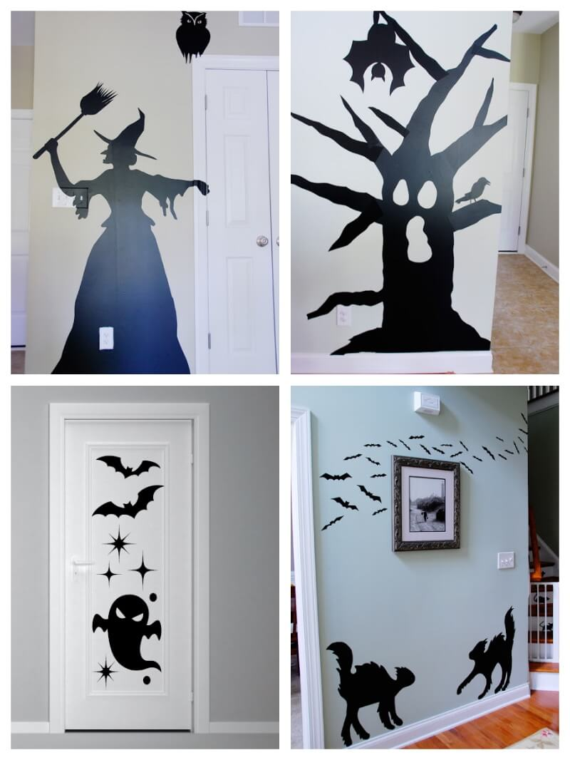 Ideas de decoraci n en halloween con vinilo adhesivo - Decoracion para halloween ...