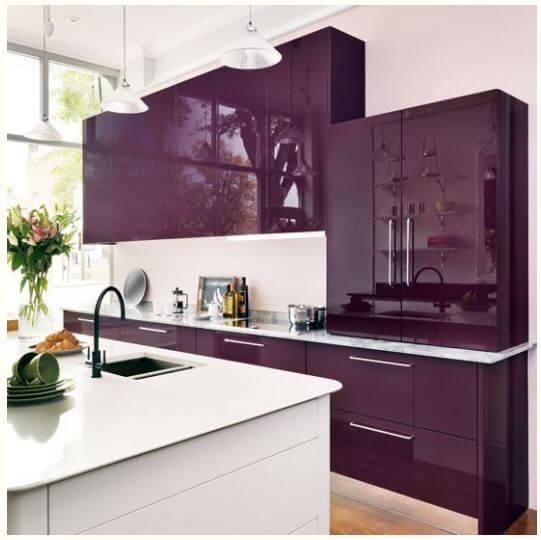 Ultra violet para renovar la cocina con vinilo adhesivo - Forrar azulejos cocina ...