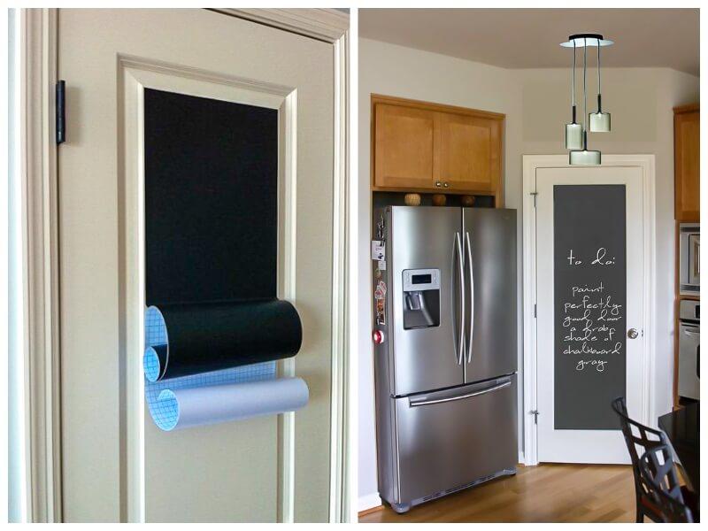 renovar las puertas de paso con vinilo adhesivo 10 ideas