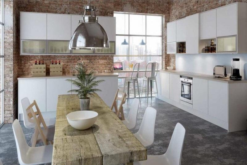 gabinetes de cocina de laminado marrón Forrar Los Armarios De La Cocina Con Vinilo Tendencias